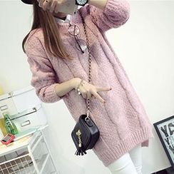 FR - Cable Knit Long Sweater