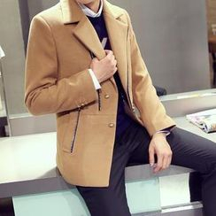 Bay Go Mall - Zip Lapel Coat