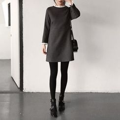 Seoul Fashion - Frilled Shift Dress