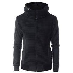 TheLees - Layered Zip-Up Hoodie Jacket