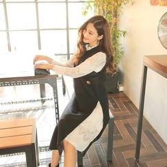 Cherryville - Sleeveless Slit-Side Midi Dress