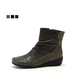MODELSIS - Genuine Leather Stitched Boots