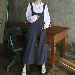 CHICFOX - Wide-Leg Pants with Suspenders