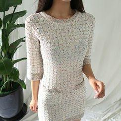 ATTYSTORY - 3/4-Sleeve Knit Dress