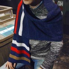 Lose Show - Contrast-Color Knit Scarf