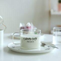 Kawa Simaya - Lettering Glass Cup