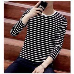 Fisen - Long-Sleeve Striped T-Shirt