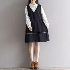 Clover Dream - Long-Sleeve Mock Two Piece Dress