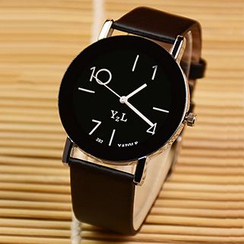 YAZOLE - Faux-Leather Strap Watch