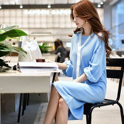Dabuwawa - 3/4-Sleeve Shift Dress