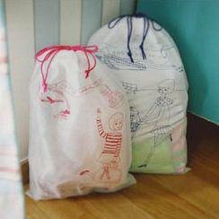 OH.LEELY - 七件套: 卡通印花抽绳衣物袋