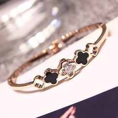 EPOQ - Rhinestone Clover Bangle