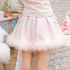 糖果雨 - 绒毛边裙