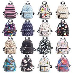 Gardenia - Faux Leather Printed Backpack