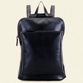 BeiBaoBao - Faux-Leather Zip Backpack