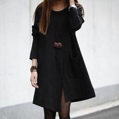 QLand - Long-Sleeve A-Line Dress