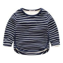 DEARIE - Kids Star Applique Striped Long Sleeve T-Shirt