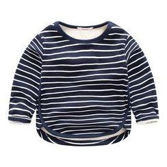 DEARIE - 兒童星星貼布繡條紋長袖T恤