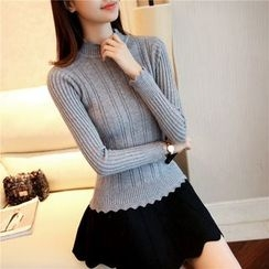 NIZ - Long-Sleeve Mock-Neck Knit Top