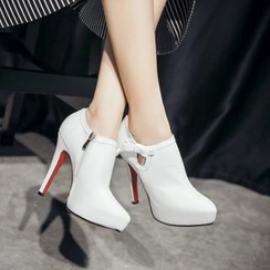 JY Shoes - Pointy High Heel Ankle Boots