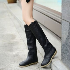 Pretty in Boots - Ruched Over-The-Knee Boots