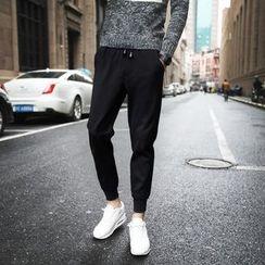 Besto - 纯色慢跑长裤