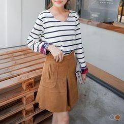 OrangeBear - Suede A-Line Skirt