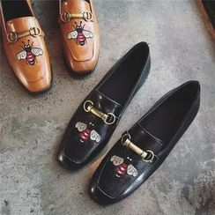 Hipsole - Embroidered Paneled Loafers