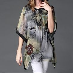 Mythmax - Short-Sleeve Printed Top