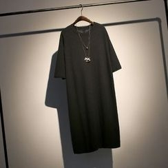somniaa - Elbow-Sleeve T-shirt Dress