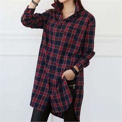 CHICFOX - Check Long Shirt