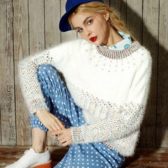 ELF SACK - Rhinestone Melange Sweater