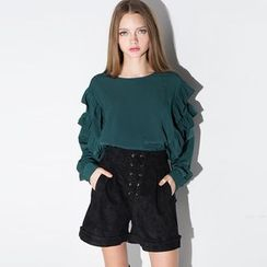 Obel - Ruffle Long-Sleeve Top