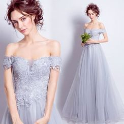 Angel Bridal - Lace Evening Gown