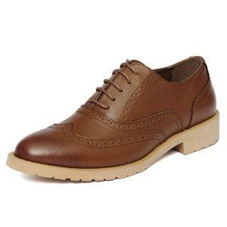 yeswalker - Faux Leather Wingtip Oxfords