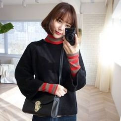 WITH IPUN - 3/4-Sleeve Knit Sweater