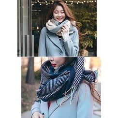 Chlo.D.Manon - Fringed Herringbone Long Scarf
