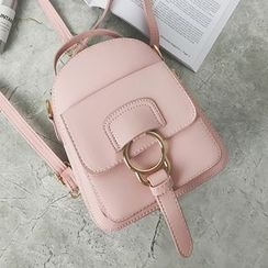 Hase Babe - Mini Faux Leather Backpack