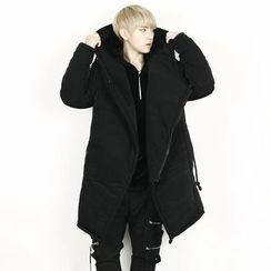 Remember Click - Oversized Padded Zip-Up Hoodie Jacket