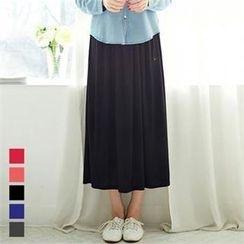 ANNINA - Band-Waist Maxi Skirt