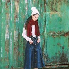 tete - Denim Suspender Skirt