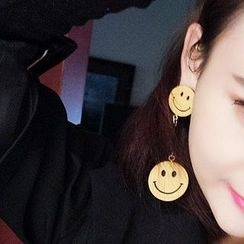 Ticoo - Smiley Drop Earrings
