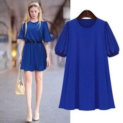 VIZZI - Puff-Sleeve Tunic Dress