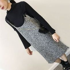 THE XIBI - Tweed Pinafore Dress