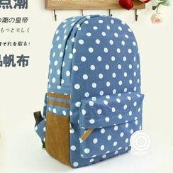 Muguwu - Canvas Polka-Dot Backpack