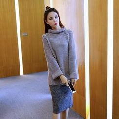 Cerulean - Set: Sweater + Skirt