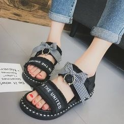 QQ Trend - Bow Fray Platform Sandals