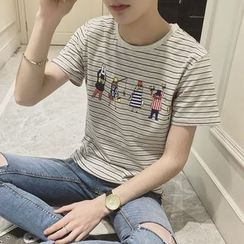 Soulcity - Short-Sleeve Striped T-Shirt