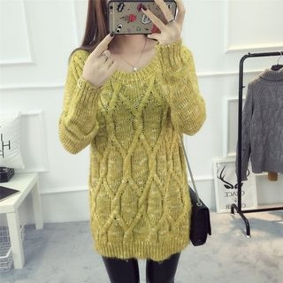 Knitemps - Cable-Knit Long Sweater
