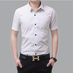 JIBOVILLE - Short-Sleeve Dotted Shirt